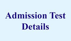 Details of Admission