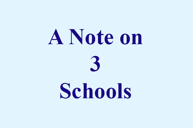 A Note on 3 Schools